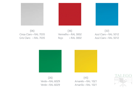 colores disponibles en las consignas de vestuario
