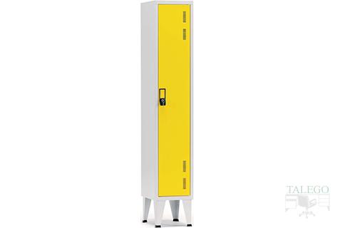 taquilla de una puerta en amarillo
