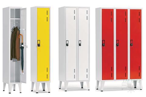Composición de taquillas de una puerta en diferentes colores