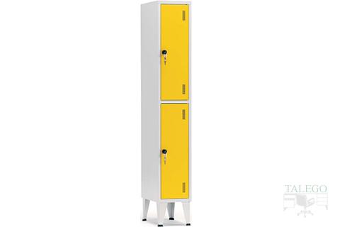Taquilla de un cuerpo con dos puertas en amarillo