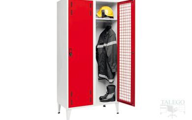 Taquilla especial para bomberos y fuerzas del orden en rojo y gris
