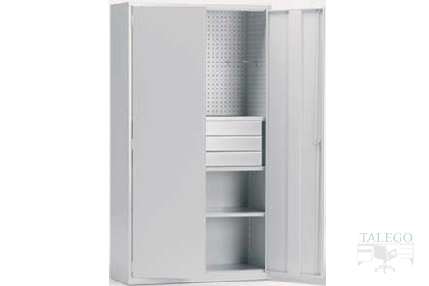 armario especial terminado en color gris