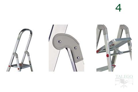 Detalle de sistema de anclaje en las escaleras domesticas rolser