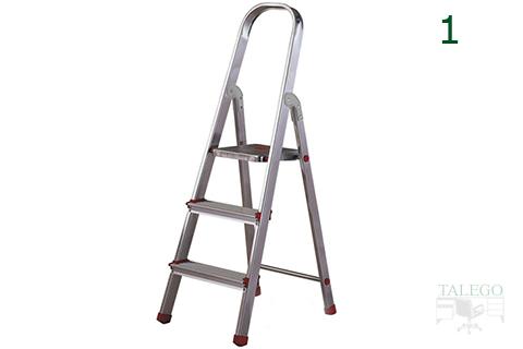 Escalera domestica de tres peldaños rolser