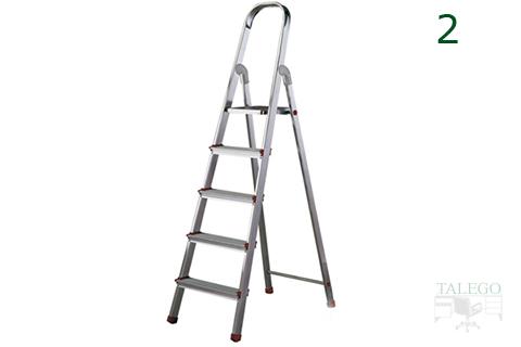 Escalera de 5 peldaños para el hogar rolser