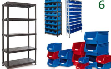 Gavetas y estanterías de plastico