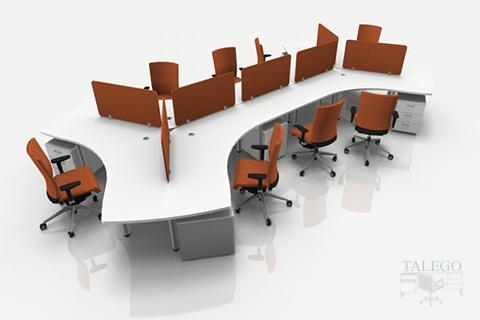 Composición de mesas de oficina