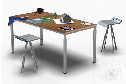 Mesa de oficina con la estructura metalica
