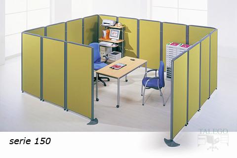 Montaje habitación cerrada con divisorias en verde