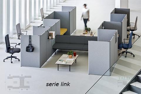 Separación de ambientes con divisorias del modelo link
