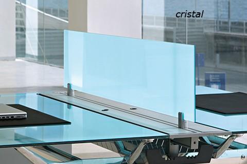Divisioria de Cristal en mesa