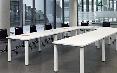Mesa de Juntas en U con mesas modulares serie cool