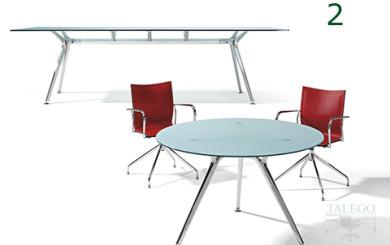 mesa de juntas de cristal redonda