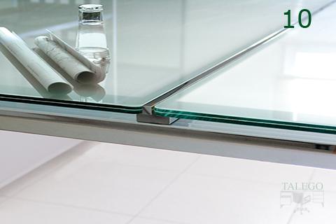 Detalle terminación cristales de mesa