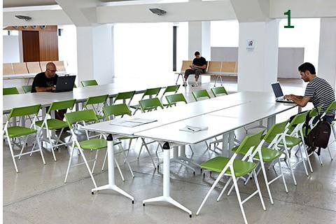 Mesa Trama unidas para sala de estudio