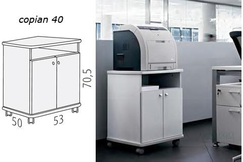Mueble auxiliar para fotocopiadora copiant 40 en blanco