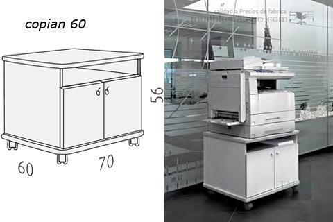 Mueble para fotocopiadora copiant 60 en blanco