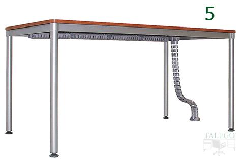 Ejemplo de cableado en mesa dynamic