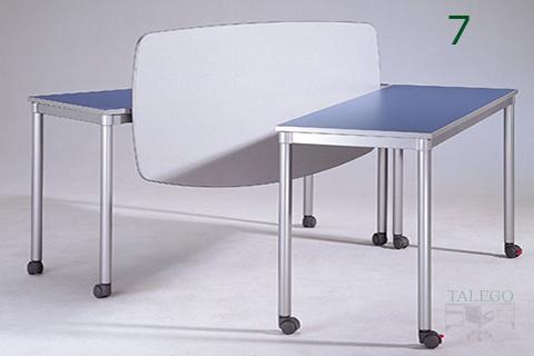 Mesas de la serie dynamic con ruedas