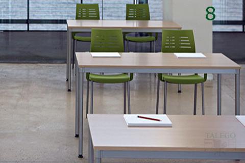Mesas rectangulares de la serie dynamic