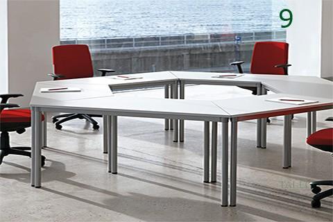 Ejemplo de combinación mesas dynamic para sala de juntas