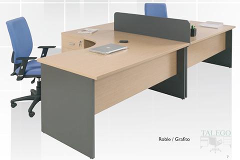 Mesa de oficina de la serie dado con divisoria gris de mesa