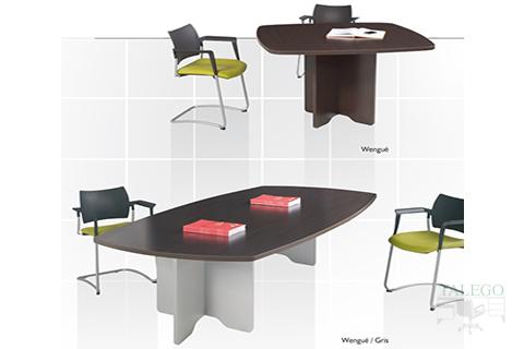 Mesas de juntas cuadradas y rectangulares serie dado en wengue