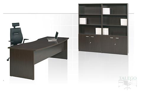 Mesa despacho en wengue con armarios a juego de la serie dado