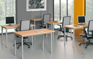 Mesas modulares utilizadas para mesa de academia