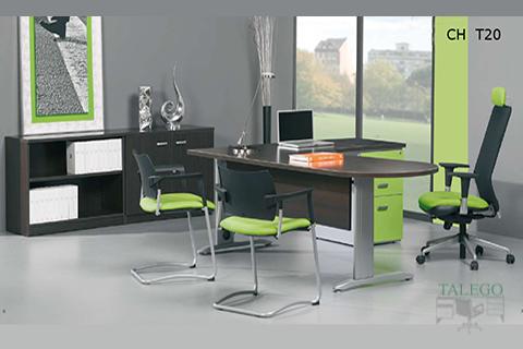 puesto de oficina ch infor en wengue combinado con verde