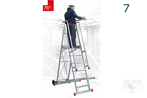 Escalera de aluminio con seguridad de trabajo sm