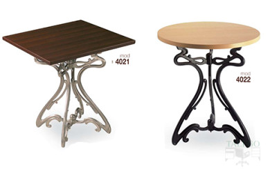Mesas de bar estructura metalica modelos 4021 y 4022