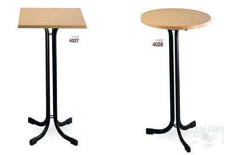 Mesas altas modelo 4027 y 40289 metalica con tablero de madera