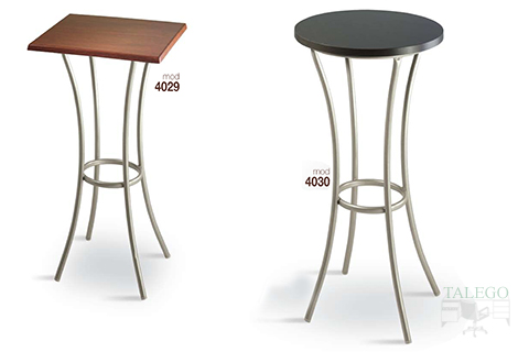 Mesas altas modelo 4029 y 4030 metalica con tablero de madera