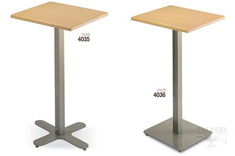 Mesas altas modelo 4035 y 4036 metalica con tablero de madera