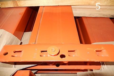 Detalle larguero naranja de estanteria pesada mx