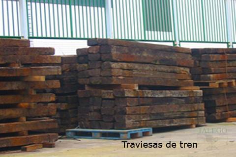 Traviesa de tres en madera
