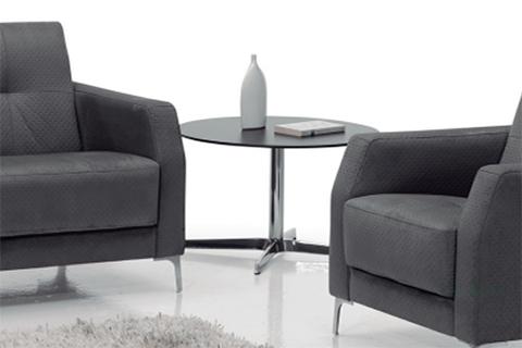 Mesa redonda modelo do waiting con peana metálica