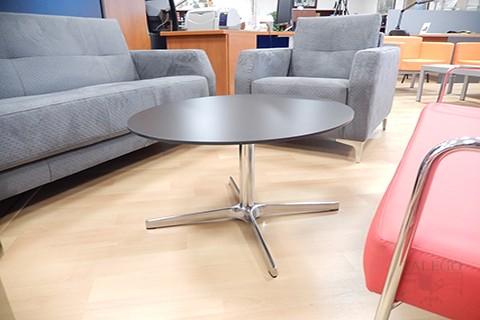 Mesa redonda con pie cromado en mesa do waiting