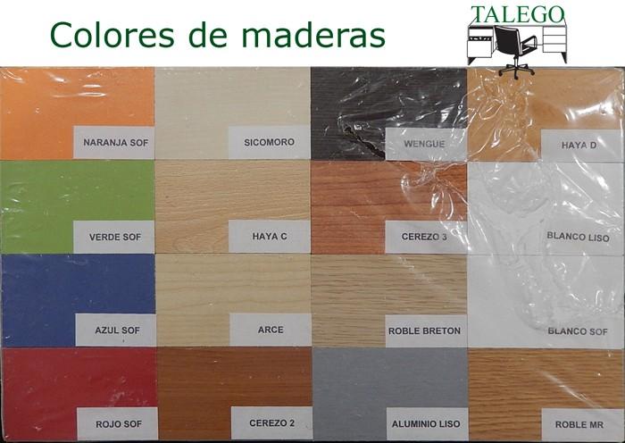 Colores DM disponibles para mostradores de madera EM