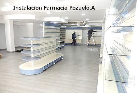 Instalación en Montaje con estanterias de comercio