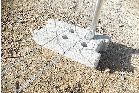 Pie de cemento para Valla de Obra Movil