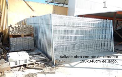 Vallas Moviles para Obras rigidas con pie de cemento