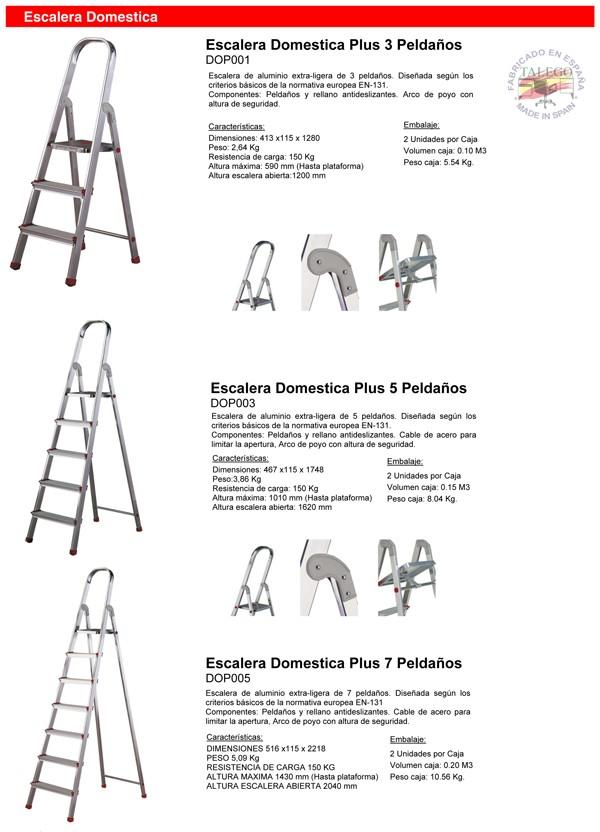 Escalera de domestica de aluminio