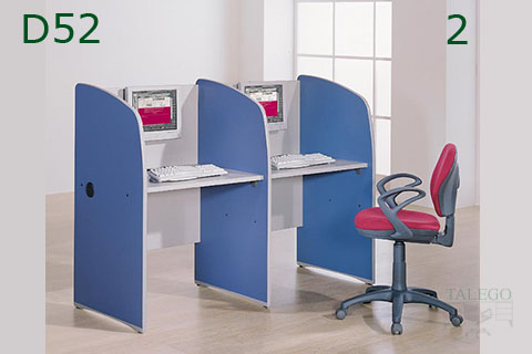 Mueble Call center para pantallas planas en blanco y azul
