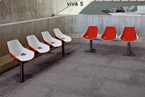 Ejemplo de sala de espera con sillas del modelo ber viva