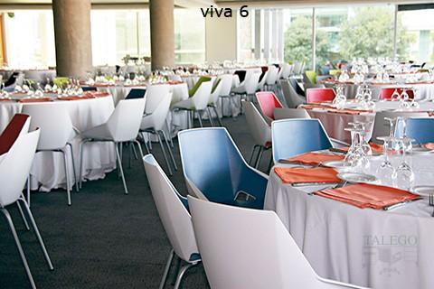 Restaurante compuesto por sillas del modelo ber viva
