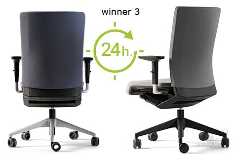 Vista respaldo de sillas ber winner 24 horas