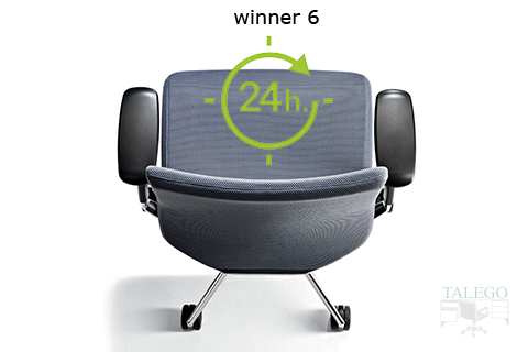 Vista superior de silla ber winner tapizada