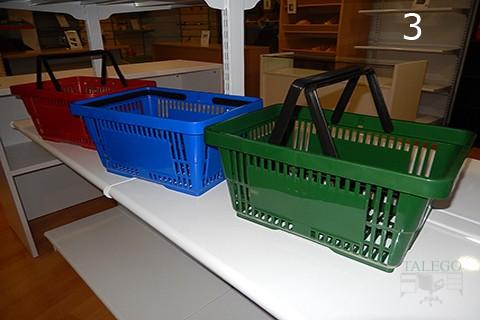 Muestra de cestas de compra en diferentes colores